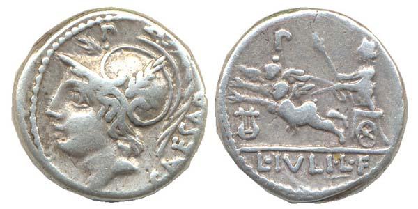 Denario republicano de la gens Julia (Roma, 103 a.C.) L%20Iuli
